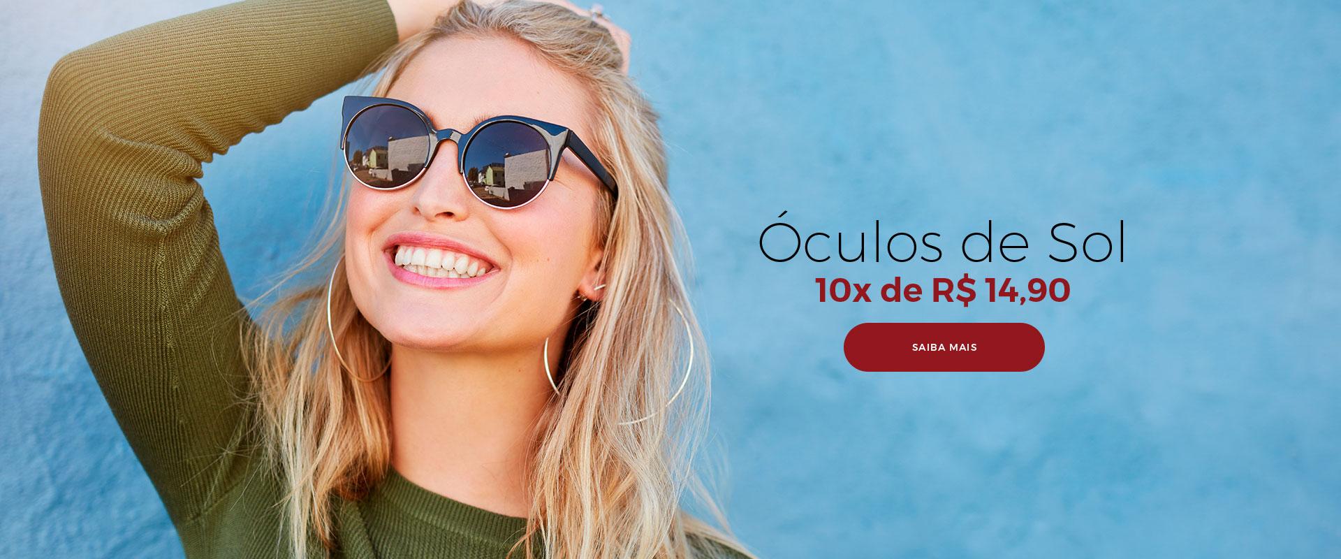 Óculos de Sol 10x de R$ 14,90